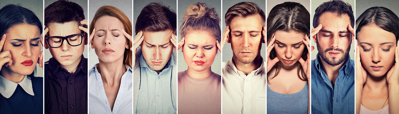 migræne, Hovedpine, hovedsmerter